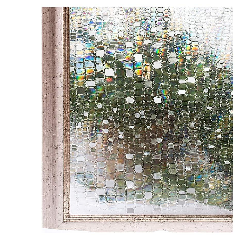 顕著スキャンダル憲法CottonColors 窓ガラスフィルム 目隠しシート 何度も貼直せる 窓用フィルム 紫外線カット 90x200cm のり無し 3Dステンドグラス DIY 石道013