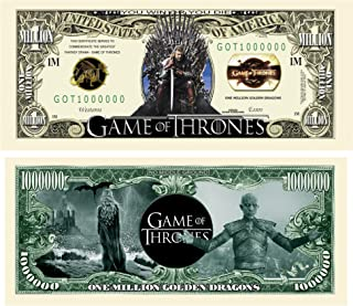 American Art Classics Pack of 10 - Limited Edition Game of Thrones   GOT   Collectible Novelty Bills
