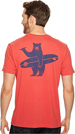 Life is Good - Surf Bear Pocket Crusher Tee