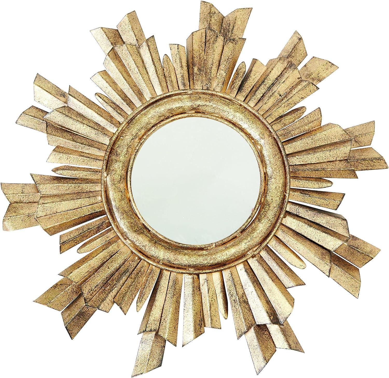 Mud Pie gold Sunburst 20  Decorative Mirror, One Size