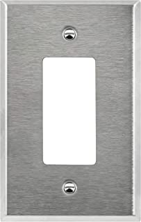 ENERLITES Decorator Light Switch or Receptacle Outlet Metal Wall Plate, Corrosive Resistant, Over Size 1-Gang 5.5