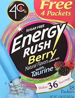 4C Totally Light 2 Go Energy Rush Berry, Sugar Free, 14-Count, Boxes (Pack of 3)