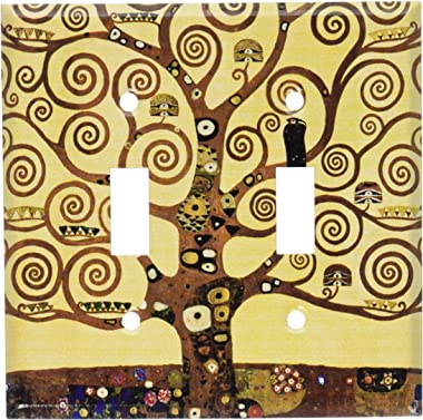 Art Plates - Klimt: The Tree of Life Switch Plate - Double Toggle