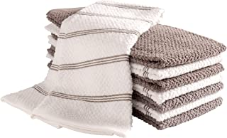 KAF Home Pantry Piedmont Terry Kitchen Towels   Set of 8, 16 x 26 inch, Absorbent Terry Cloth Dish Towels, Hand Towels, Tea Towels   Perfect for Kitchen Spills, Cooking, and Messes - Dark Gray