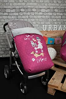 Apto para beb/és mayores de 12 meses(Rosa) Saco de dormir para beb/é cubrepiernas para Beb/é con terciopelo Engrosado Impermeable A Prueba Viento desmontable Sacos Para Sillas de Paseo