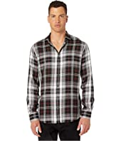M.B. Fit Viscose Check Button-Up Shirt