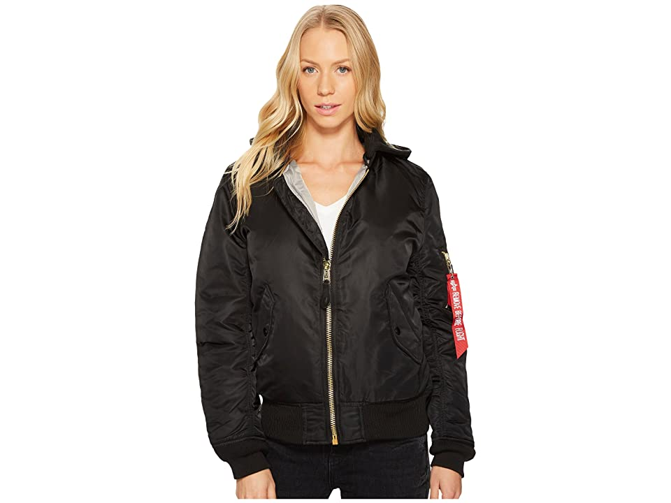 Image of Alpha Industries MA-1 Natus Jacket (Black/New Silver Lining) Women's Coat