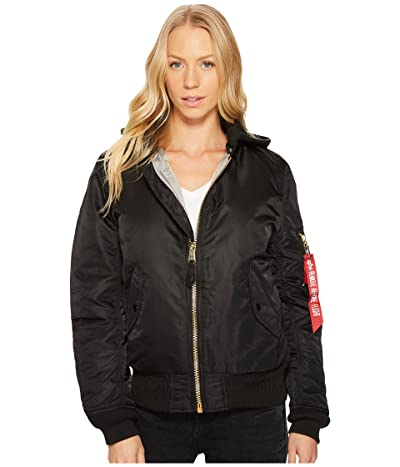 Alpha Industries MA-1 Natus Jacket (Black/New Silver Lining) Women
