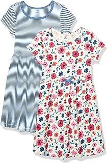 Girls' Organic Cotton Short Long-Sleeve Dresses