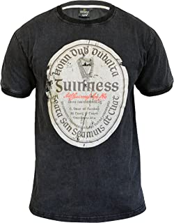 Distressed Gaelic Label Guinness T-Shirt – Short Sleeve Graphic Tee