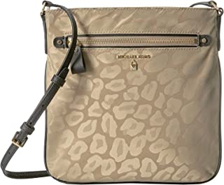 Michael Michael Kors Kelsey Leopard Nylon Crossbody Bag Truffle