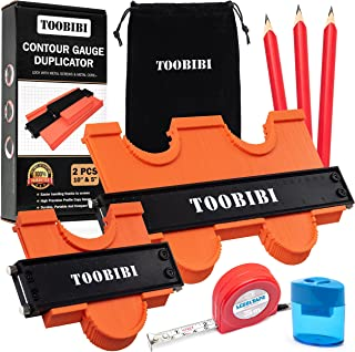 Sponsored Ad – Toobibi Contour Gauge Duplicator with Metal Lock - Complete Kit Profile Tool 10 and 5 inch with Adjustable ...