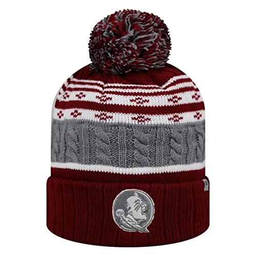 Top of the World Florida State Seminoles Official NCAA Cuffed Knit Altitude  Beanie Stocking Stretch Sock 1fc65dc92a2