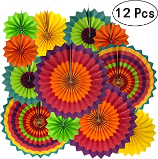 Fiesta Mexican Party Hanging Decorations - Wedding Baby Shower First Birthday Party Carnival Party Ceiling Hangings Photo Booth Backdrops Props Decorations, 12pc
