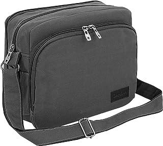 DAHSHA Canvas 20 Pockets Multifunction Sling Cross Body Travel Office Business Messenger one Side Shoulder Bag with Padded...