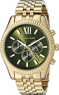 Michael Kors Mens Quartz Watch, Chronograph Display and Stainless Steel Strap MK8446