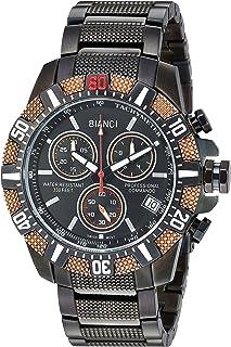 ساعة روبيرتو بيانسي للرجال فونتانا سويس كوارتز بسوار ستانلس ستيل، اسود، 22 (الموديل: RB18762)