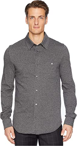 Jersey Jacquard Button Down