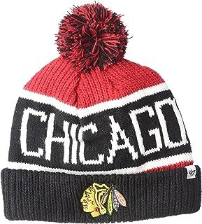 NHL Chicago Blackhawks Calgary Cuff Knit Hat, One Size, Red