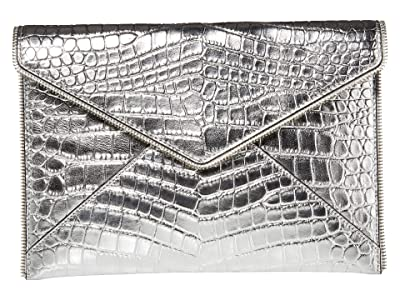 Rebecca Minkoff Leo Clutch (Silver 6) Clutch Handbags