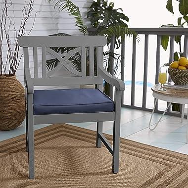 Mozaic Company AMZ760001SC Sunbrella Canvas Navy Outdoor Cushion, 20 x 20