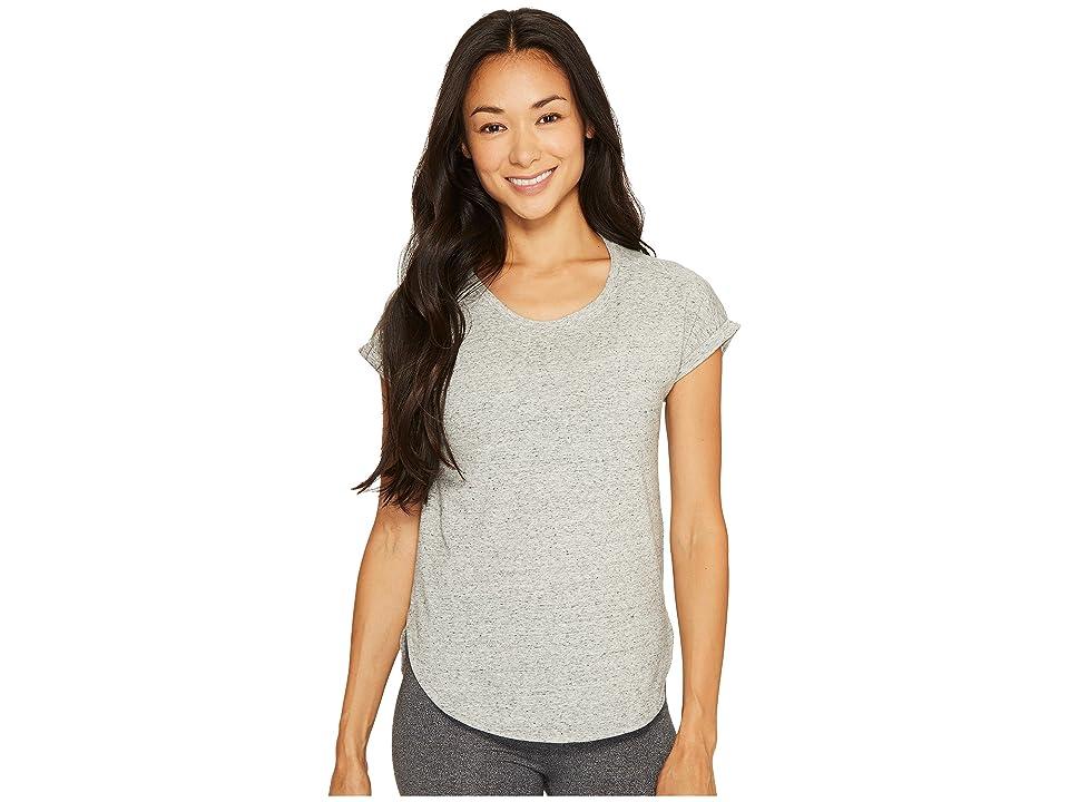 adidas Performer Hi Lo Tee (Medium Grey Heather/Snow Melange) Women's T Shirt