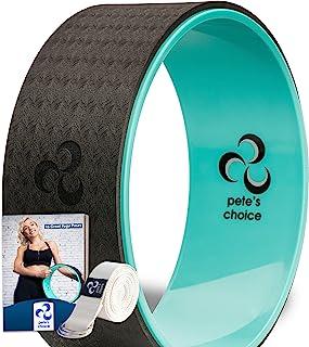 انتخاب pete Ultimate Dharma Yoga Wheel Prop با Bonus eBook و تسمه یوگا رایگان | لوازم جانبی تعادل راحت و بادوام یوگا | انعطاف پذیری را افزایش دهید | کشش عقب ایده آل