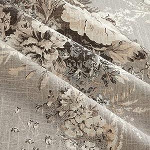 Waverly Ballad Bouquet Blend Platinum Linen, Fabric by the Yard