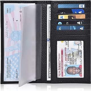 Checkbook Cover for Duplicate Checks - Standard Register Wallet for Men & Women