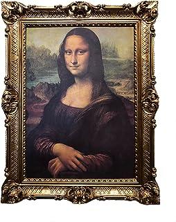 Fabricado en italy Mona Lisa Cuadro con marco barroco–cuadro de Leonardo da Vinci 70x 90cm Impresiones Artísticas Gemälde Retro Repro Antiguo para Home oficina práctica Café