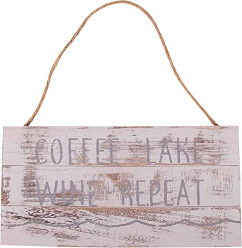 popular GSM wholesale Brands Coffee Lake Wine wholesale Repeat 13.75 x 6.9 Wood Plank Design Hanging Sign online sale