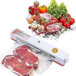 Vacuum Sealer Machine, Seal a Meal, Bag Sealer, Multifunctional Automatic Food Sealer, Food-saving Packing (16*Vacuum Sealer Bags for Food Storage Included)