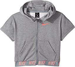 Nike Kids - Dry Core Studio Short Sleeve Training Hoodie (Little Kids/Big Kids)