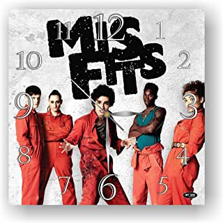 ART TIME PRODUCTION Misfits 11'' Handmade Wall Clock - Get Unique décor for Home or Office – Best Gift Ideas for Kids, Friends, Parents and Your Soul Mates