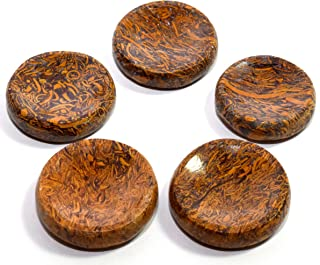 38mm Elephant Skin/Coquina Jasper Stand for Spheres/Eggs Polished Mariyam Holly Fossil Crystal Mineral Natural Arabic Calligraphy Scriptstone Stand from India - 1PC