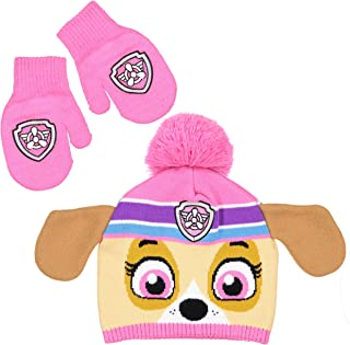 875d8d1b779 NICK JR Paw Patrol Girls Skye character Beanie Hat and Mitten Set - Toddler  Size