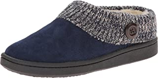 Women's Knit Scuff Slipper, Blue, 8 M US