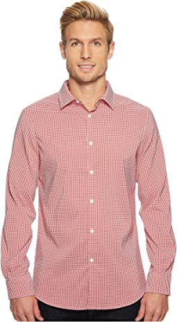 Perry Ellis Mini Check Total Stretch Dress Shirt