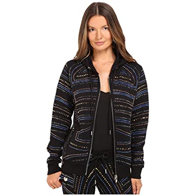 Philipp Plein Embellished Zip-Up Hoodie (Black) Women