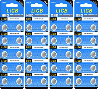 LiCB 40 Pack LR41 AG3 392 384 Batteries,Long-Lasting & Leak-Proof,High Capacity 1.5 Volt LR41 Coin & Button Cell Battery for Digital Thermometer Ornament Hearing Aid Led Watch