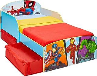 Worlds Apart Marvel Superheld Lit pour Enfant avec Espace de Rangement, Single