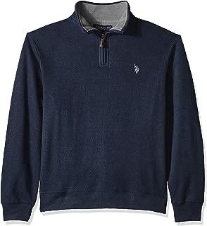 U.S. Polo Assn. Men's Quarter Zip Mock Neck Pullover