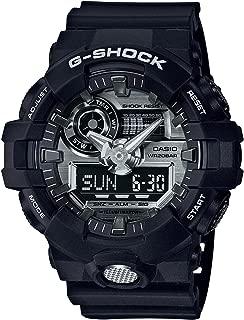 Casio G-Shock Analogue/Digital Mens Black/Silver Watch GA710-1A GA-710-1ADR