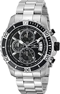Invicta Men's Pro Diver Stainless Steel Quartz Watch with Stainless-Steel Strap, Silver, 22 (Model: 22412)