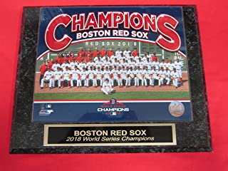 Red Sox 2018 World Series Champions Collector Plaque #2 w/8x10 Team Photo