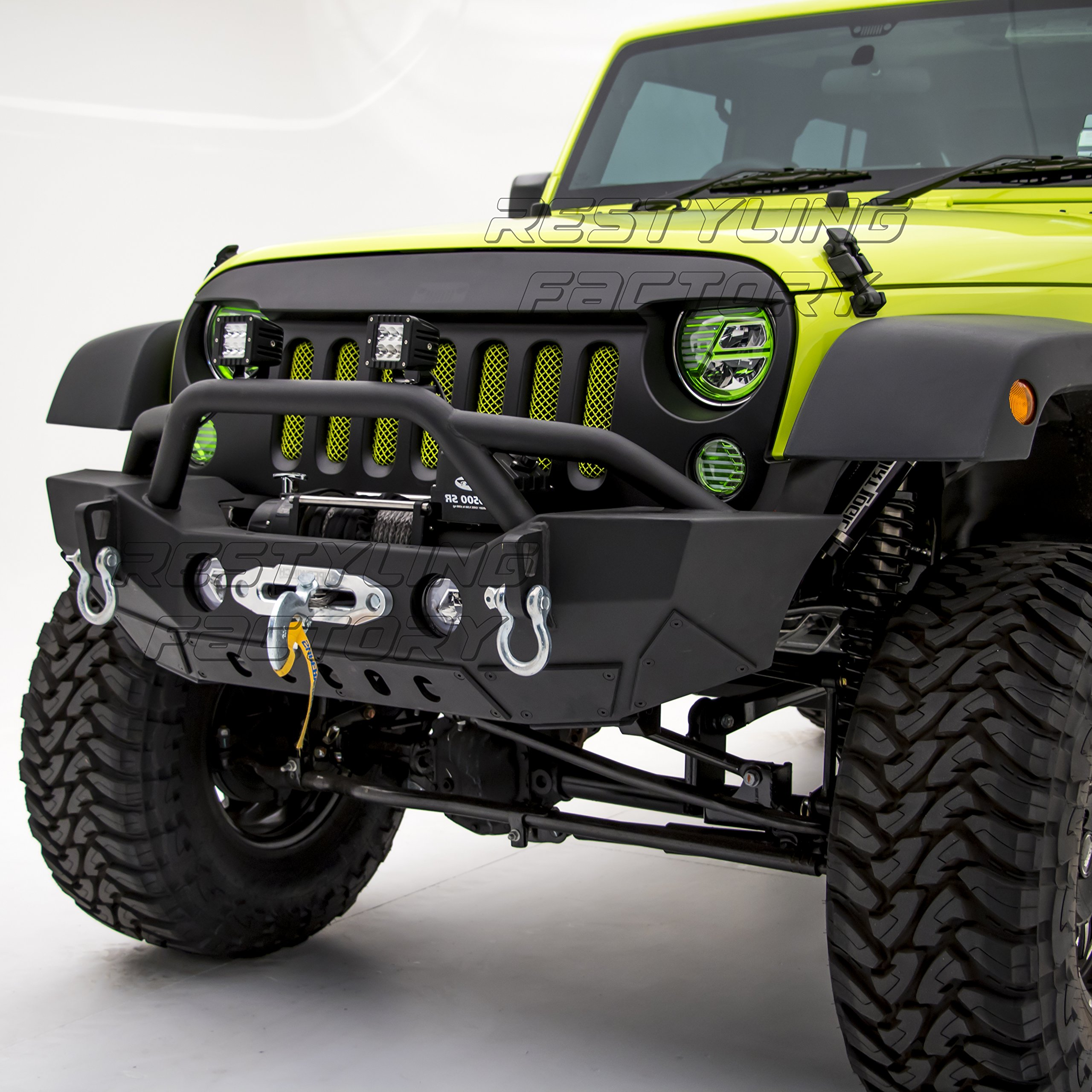 2013 jeep wrangler front bumper with winch amazon com Jeep Wrangler Jk Winch Bumpers