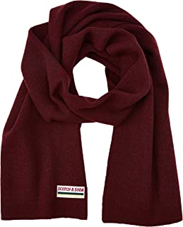 Scotch & Soda Classic Rib Knit Scarf In Soft Wool-Blend Quality Bufanda para Hombre