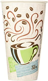 Dixie Perfectouch Insulated Paper Hot Cup, Coffee Haze Design, 100 Count