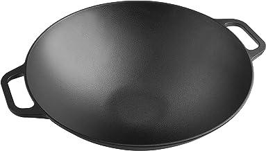"""VICTORIA Seasoned Wok with Wide Handles, Black, Large/14"""", WOK-314"""