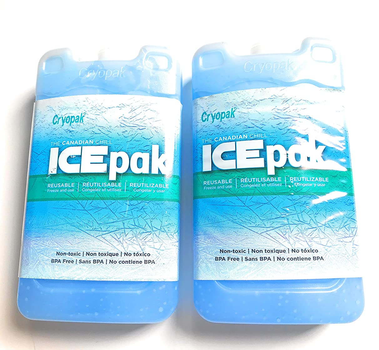 Cryopak Medium Size Hard Shell Ice Packs - Set of 2 Ice Packs - 7 Inches Tall X 4 Inches Wide X 1 Inches Deep - Perfect Ice Packs for Coolers - Great Value!